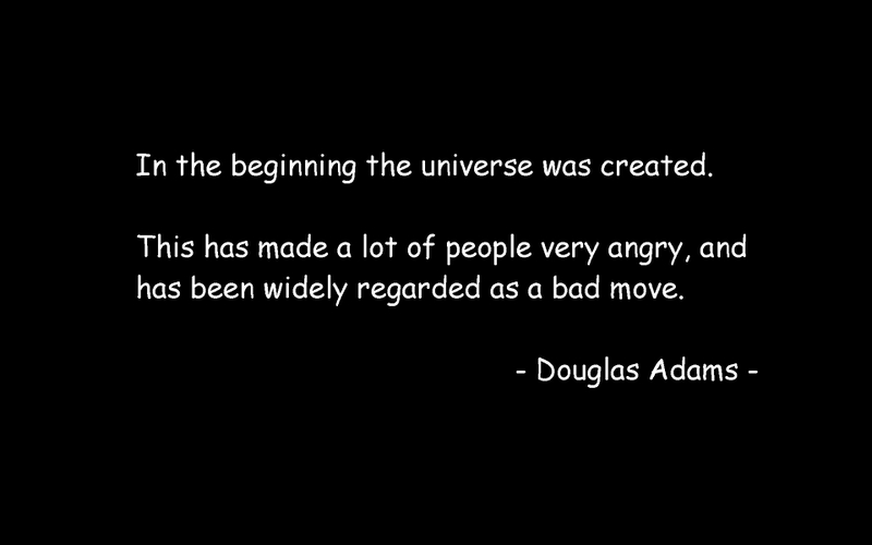 an analysis of the adventures of arthur dent in the hitchhikers guide to the galaxy by douglas adams The hitchhiker's guide to the galaxy, written by douglas adams,  story and character analysis  the hitchhiker's guide to the galaxy, arthur dent and ford.